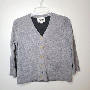 ACNE XS wool shorty cardigan